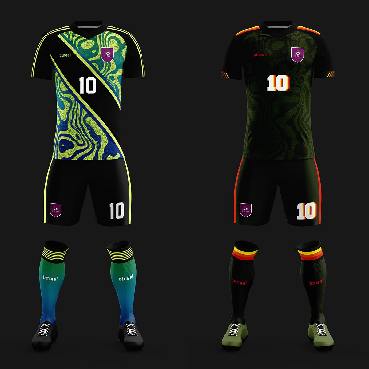 Pineal football kits